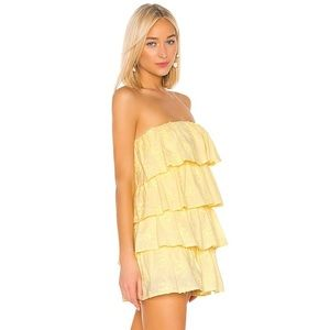 Tularosa Dresses - Tularosa Finley Dress in Pastel Yellow, XS